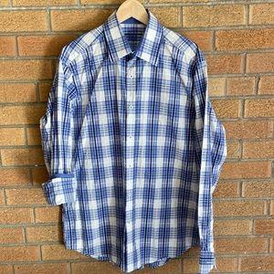 Blue and White Checkered Shirt